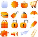 ikony ustawiać Zdjęcia Stock