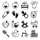 Ikony ustawiać z odbiciem: Dzieci Fotografia Stock