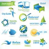 ikony ustawiają podróż Obrazy Royalty Free