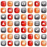 ikony ustawiają sieć Zdjęcie Royalty Free
