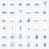 ikony ustawiają transport Zdjęcia Stock
