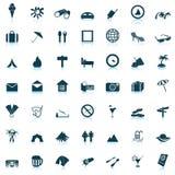 ikony ustawiająca podróż Obraz Stock