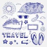 ikony ustawiająca podróż Zdjęcia Royalty Free