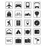 ikony ustawiająca podróż Fotografia Stock
