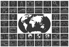ikony ustawiająca podróż Fotografia Royalty Free