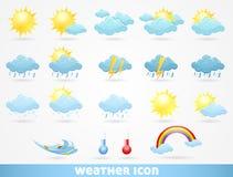 ikony ustawiająca pogoda Obraz Stock