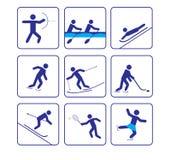 ikony ustawiający sporty stylizują wektor trzy Zdjęcie Stock