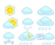 ikony ustawiająca wektoru pogoda royalty ilustracja