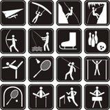 ikony ustawiający sport Fotografia Royalty Free
