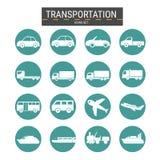 ikony ustawiający transport Zdjęcie Stock