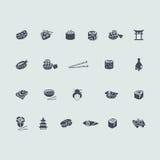 ikony ustawiają suszi Fotografia Stock