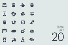ikony ustawiają suszi Zdjęcie Stock