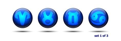 ikony vector zodiaka Fotografia Stock