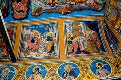 Ikony w Cheia monasterze, Rumunia Zdjęcie Royalty Free