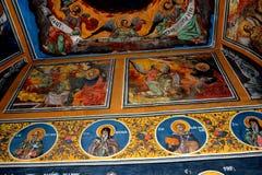 Ikony w Cheia Ortodoksalnym monasterze, Rumunia Fotografia Royalty Free