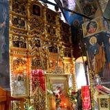 Ikony w kościół Cheia monaster Zdjęcie Royalty Free