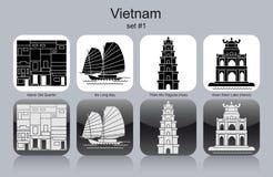 Ikony Wietnam ilustracji