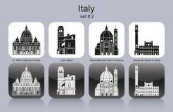 Ikony Włochy Zdjęcia Stock