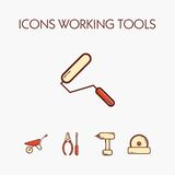Ikony worcking narzędzia obraz royalty free