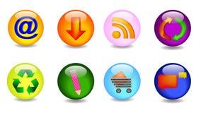 ikony wpisują set Zdjęcia Royalty Free