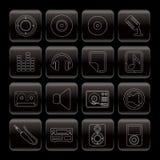 ikony wykładają muzyka dźwięka Fotografia Royalty Free