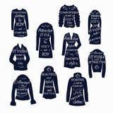 Ikony z literowaniem odziewają dla kobiet Fotografia Royalty Free
