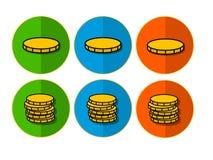 Ikony z monetami obrazy stock