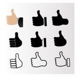 Ikony z symbolem lubią Zdjęcie Stock