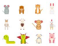 Ikony z zwierzętami Obrazy Royalty Free
