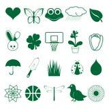 ikony zielona wiosna Obraz Royalty Free