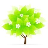ikony zielony drzewo ilustracja wektor