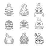 Ikony zimy kapelusz Fotografia Royalty Free