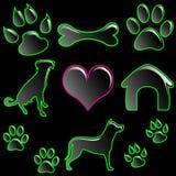 ikony zwierzęcia domowego set Zdjęcie Royalty Free