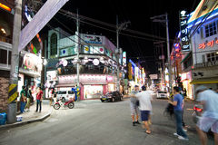 Iksan (Coreia do Sul) na noite Fotografia de Stock Royalty Free