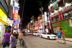Iksan (Zuid-Korea) bij nacht Royalty-vrije Stock Fotografie