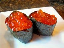 Ikura roe suszi łososiowe rolki Zdjęcie Royalty Free