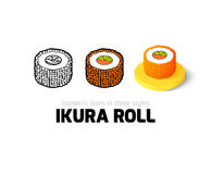 Ikura roll icon in different style Stock Photo