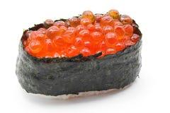 Ikura salmon egg roll sushi Stock Photo