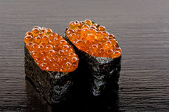Ikura Sushi Lizenzfreies Stockbild
