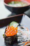 Ikura Sushi and vegetable Stock Photos