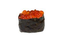 Ikura sushi. Japanese sushi with fish egg Royalty Free Stock Photography
