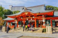 Ikuta-Jinjaheiligdom in Kobe Stock Foto