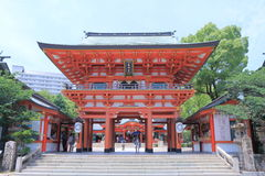 Famous Ikuta Shrine Kobe Japan  Stock Photo