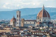 Il中央寺院二佛罗伦萨,意大利 库存图片