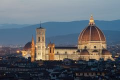 Il中央寺院二佛罗伦萨,意大利 免版税图库摄影