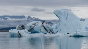 Il ³ n del rlà del ¡ di JökulsÃ, è un grande lago glaciale in Islanda sudorientale, fotografie stock libere da diritti