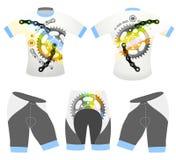 il ฺBicycle mette in mostra il vettore della maglietta Fotografia Stock Libera da Diritti