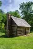 """Il †della cabina di ceppo della replica """"esplora il parco, Roanoke, la Virginia, U.S.A. Fotografie Stock"""