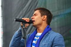 """Il †di Stanislav Piatrasovich Piekha (Stas Piekha)"""" è un cantante e un attore popolare russo ed il nipote di Edita Piekha Immagini Stock"""