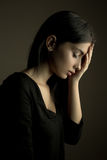 """Il †di tristezza """"ha depresso la ragazza teenager Immagini Stock Libere da Diritti"""